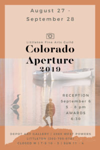 Colorado Aperture Show 2019 Flyer